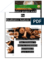 Chemistry investigatory project on analysis of alloy