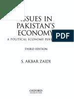 ISSUES IN PAKISTAN'S ECONOMY