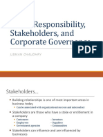 Social Responsibility, Stakeholders and Ethics