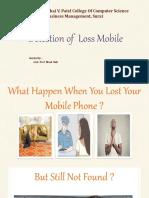 detaction lost mobile
