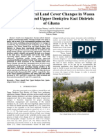 Spatio-Temporal Land Cover Changes in Wassa Amenfi East and Upper Denkyira East Districts of Ghana