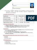 CV FOR DYNAMIC  COMPANY