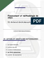 4 - Actions et droits des actionnaires - Les droits pécuniaires