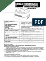 Manual Dispozitiv Curatare Cu Ultrasunete Augusta