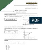 Ecuación de la recta - Guía teórico-práctico ok