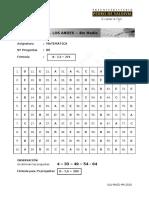 Pauta-Ensayo Matemática 2018