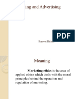 Marketing and Advertising Ethics