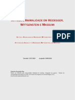 Atitude e animalidade em Heidegger, Wittgenstein e Massumi