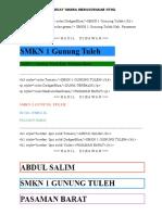MEMBUAT WARNA MENGGUNAKAN HTML