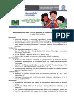 BASES PARA LA XX FERIA ESCOLAR NACIONAL DE CIENCIA Y TECNOLOGIA 2012