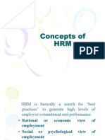 Concepts of HRM