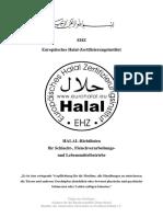 EHZ Halal Richtlinien (deutsch)