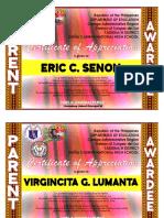 Certificate 2019-Parent Awardee