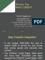 Cenvat Credit Sushil Agarwal