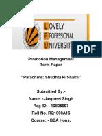 Promotion Management Term Paper