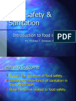 FOOD SAFETY, SANITATION AND INFECTIOUS DISEASES [Autosaved]