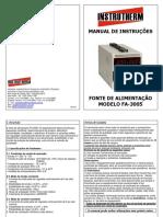 0 - Manual - Fonte de tensão (FA-3005)