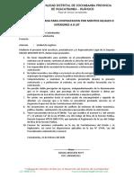 DECLARACION JURADA PARA CONTRATACION POR MONTOS IGUALES O INFERIORES A 8 UIT