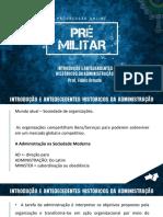 Introdução e Antecedentes Históricos da Administração.