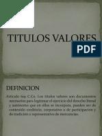 TITULOS_VALORES IDEAS
