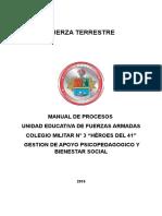 Manual de Proceso de Gestión de Apoyo Psicopedagogico y Bienestar Social