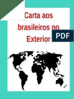 Carta aos brasileiros no exterior