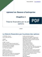 M1 Options Chapitre 2 Théorie financière par le prisme des options 2016 2017 version blog