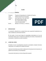 Sílabo Curso - Gestión Financiera de Proyectos PDE Proy