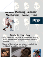 Manner and cause of death