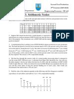 Sheet 3 - Arithmetic Series