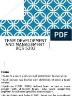 Team Development and Management  BQS5002