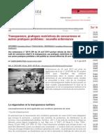 Transparence, pratiques restrictives de concurrence et autres pratiques prohibées _ nouvelle ordonnance - Concurrence - Distribution _ Dalloz Actualité