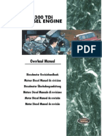 300TDi Diesel Engine Overhaul Manual 1998 Uberholanleitung - Rover