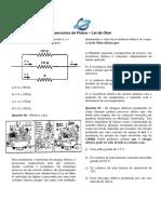 Exercícios - Lista 2 - Lei de Ohm e circuitos simples