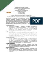 PENSUM DE ESTUDIO MILICIA BOLIVARIANA