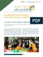 La utilización de los insectos en la gastronomía, un taller nutritivo_Cinta Quirce, Valentina Filippini & Estefania Mico.pdf