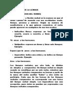 TIEMPOS Y MODOS DEL VERBO DEFINICION
