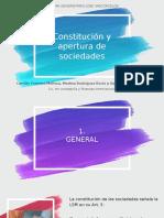 C5 -Constitución y apertura de sociedades