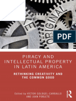 Piracy and Intellectual Property in Latin America (Intro and Table of Contents)