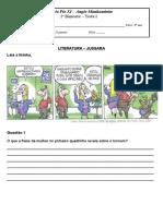 TESTE DE LITERATURA (MODELO)