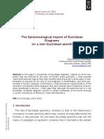 The Epistemological Import of Euclidean Diagrams (in a non-Euclidean world)