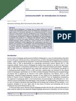 'Education as a Geisteswissenschaft'- an introduction to human science pedagogy