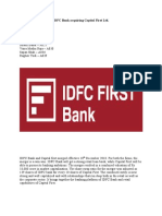 IDFC Bank acquiring Capital First Ltd