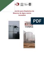 Cimentación para Depósitos de Reserva de Agua contra Incendios Antisismicos