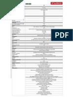 Ficha tecnica de Fuso FT - FA