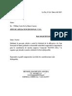 CARTA DE AFILIACION