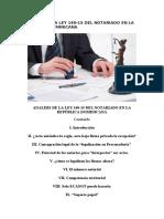 ANALISIS DE LA LEY 140-15 DEL NOTARIADO EN LA REPÚBLICA DOMINICANA.docx