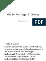 Muslim Marriage  &  Divorce