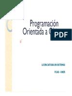 Programación Orientada a Objetos Clase 2