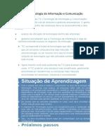 TIC - Tecnologia da Informação e Comunicação.docx